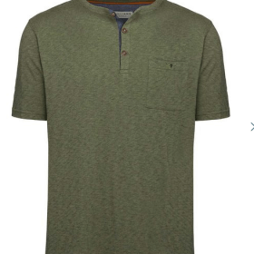 RM Williams 'Curtis' Henley T-shirt - Khaki