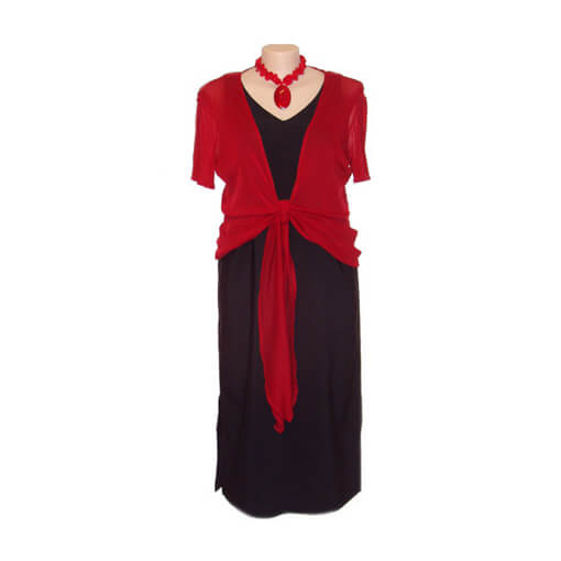 Plus Size V-Neck Structured Dress