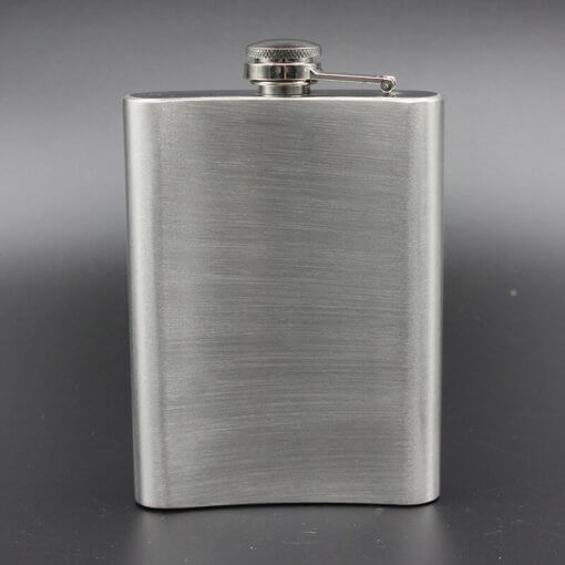 Russian Hip Flask (CCCP) 8 oz Stainless Steel with Embossed Holster