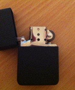 Metal Windproof Cigarette Lighter - Matt Black