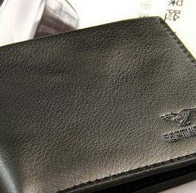 Men's Leather Bifold Black Wallet