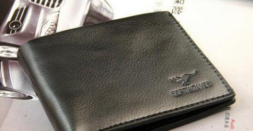 Men's Leather Bifold Black Wallet