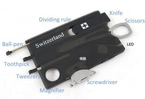 Credit Card Size Multi-Function Tool