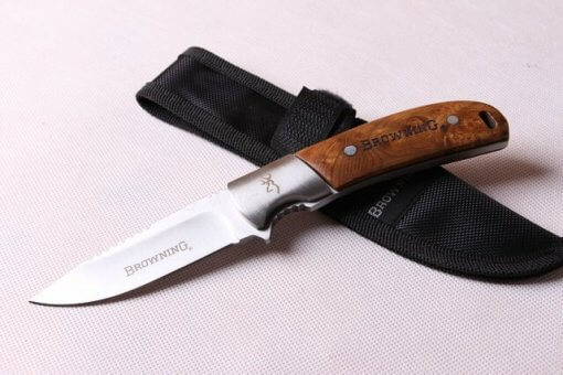 Fixed Blade Survival Knife with Nylon Sheath