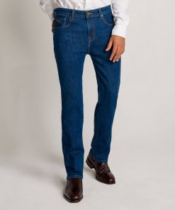 RM Williams Mens 'Ramco' Stone Wash Regular Fit Denim Jeans