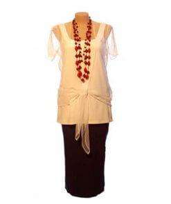 Plus Size Mesh Tie Jacket - Ivory