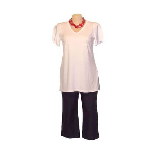 Plus Size Tee with V-neck and Split Sleeves