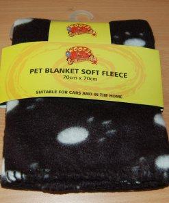 Soft Warm Pet Paw Print Fleece Blanket (Dog / Cat)