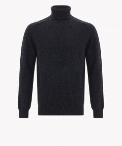 RM Williams Roll Neck Saddle Sleeve Merino Wool Sweater