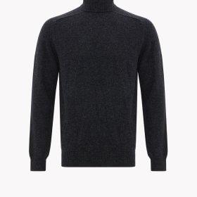 RM Williams Roll Neck Saddle Sleeve Merino Wool Sweater