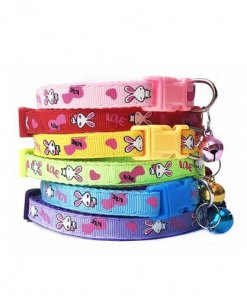 Adjustable Pet Collar with Removable Bell