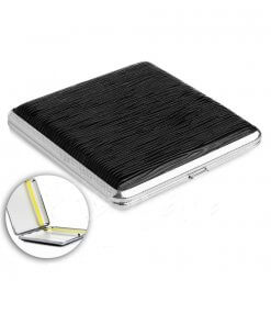 Black Textured Designer Cigarette Case