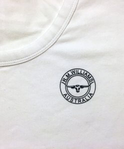 RM Williams White Printed T-Shirt with RMW Steers Head Logo