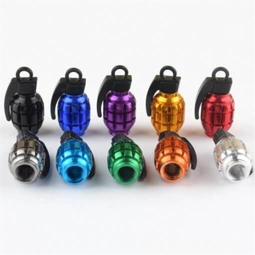 Grenade Style Tyre Valve Caps