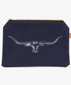 RM Williams Canvas Utility Case in Navy