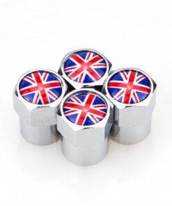 Union Jack Tyre Valve Caps