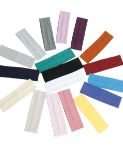 Solid Colour Stretch Cotton Unisex Headband