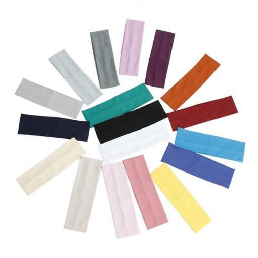 Solid Colour Stretch Cotton Unisex Headband
