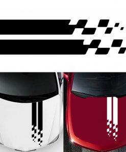 Universal Car Bonnet Vinyl Decal - Black or White