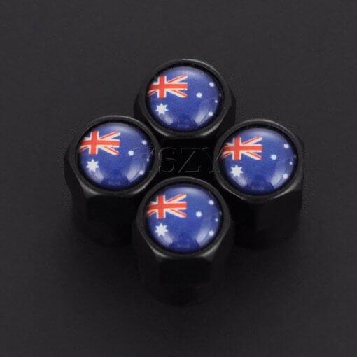 Australian Flag Tyre Valve Caps