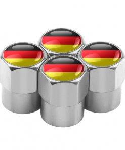German Flag Tyre Valve Caps