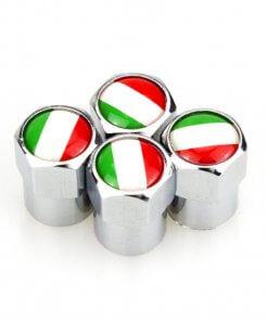 Italian Flag Tyre Valve Caps