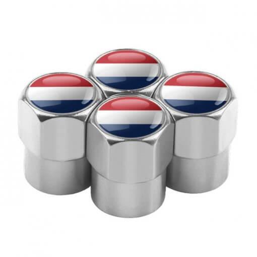 Netherlands Flag Tyre Valve Caps