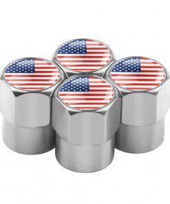 United States Flag Tyre Valve Caps
